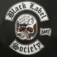 SU MISURA BLACK LABEL SOCIETY PATCH DISTINTIVI PER MOTO ABBIGLIAMENTO GILET GIACCA RICAMATA MOTOCICLISTA PATCH DISTINTIVI RIDER ADESIVO APPLIQUES