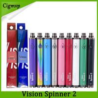Vision Spinner 2 II Batteria 1650mAh Ego C Twist Tensione Variabile VV 3.3-4.8V Batteria Sigaretta Elettronica Per Atomizzatori Filo Ego DHL