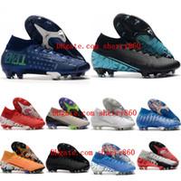 2021 Scarpe da calcio Mens Tacchetti Mercurial Superfly 7 Elite NJR CR7 FG Neymar Ronaldo Boots Stivali da calcio ad alta caviglia Tacos de futbol