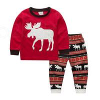 Bebek Noel Teması Suit 27 Tasarım Boys Karikatür Noel Baba Çizgili Casual Giyim Çocuk Tasarımcı Giyim Kız Pamuk Baskılı RRA2221 ayarlar