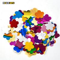 20 мешков / лот красочные конфетти бумага цветная бумага звезда бабочка сердце цветок конфетти машина бумаги для празднования свадьбы