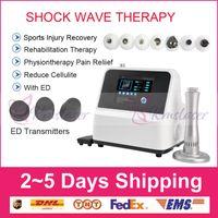 Venta directa del fabricante !!! Equipo portátil superior de terapia de ondas de choque equipo de terapia de ondas de choque extracorpóreo para tratamientos de disfunción eréctil CE DHL