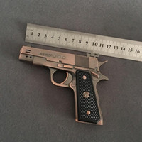 Original PPK607 Zwei-Barrel-Gun-Feuerzeug-Full Metal-Simulation Kreativität 64 Modell-aufblasbare Zwei-Feuer-Fackel für Zigarrenmann-Geschenk