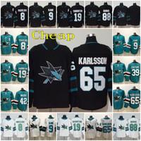 65 Erik Karlsson 2020 Stitched Third San Jose Sharks Joe Thornton Evander Kane 88 Brent Burns 8 Joe Pavelski 39 Logan Couture Hockey Jerseys