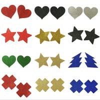 Multi Designs Блеск Sexy Star Heart Cross Безопасность и защита окружающей среды Накладки на соски груди Наклейка на соски Сиськи Наклейки синица