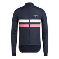 Hombre rapha pro equipo ciclismo manga larga jersey mtb tops al aire libre ropa deportiva transpirable rápido camino de secado camisa de bicicleta Ropa de carreras Y21041615