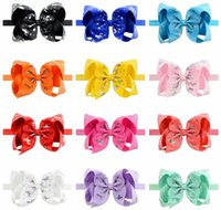 6 Inch Grosgrain Ribbon Bowknot children hair accessories wi...