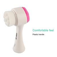 Dos caras de silicona Exfoliante Facial Clean Limpiador Facial cepillo de lavado Cuidado de la piel cepillo masajeador limpiador de poros maquillaje lavado de cara