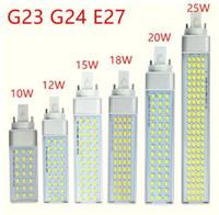 G23 G24 E27 LED-Lampe 10W 12W 15W 18W 20W 5730 Licht warmweiß Kühlweiß-Scheinwerfer 180 Grad Horizontal-Stecker