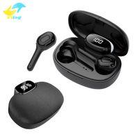 Vitog TWS T9S Dans l'oreille sans fil Bluetooth écran écouteurs Led de Réduction de bruit Casque stéréo mains libres Oreillettes sport Casques d'écoute