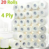 10 Rolls rápido transporte Rolo do papel higiénico 4 camadas Início Bath Rolo do papel higiénico primária polpa de madeira Tissue rolo de papel higiênico FS9504 7339044