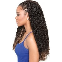Freetress Italiano Curly Curly Trança Cabelo De Profundo Onda Trança Cabelo 18inch Freetress Hair Com Água Weave Syntheti Extensões em Pretwist