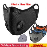 UPS DHL Luxo Máscara Ciclismo face Carvão Ativado com filtro PM2.5 Anti-Poluição do esporte que funciona Proteção Formação Poeira Máscara Anti-gota
