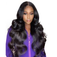Body Wave Hair Wigs Glueless Virgin Unprocessed Peruvian Hum...