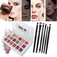 Mode 18 Farben Luxus Siliver Matte Nude Lidschatten Pallete + 6 STÜCKE Make-Up Pinsel Set Cosmetic maquiagem profissional completa