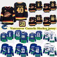 밴쿠버 캐나다 사람 유니폼 40 엘리아스 Pettersson은 6 브록 보에 저 보 호르 밧 53 10 43 파벨 버 퀸 휴즈 33 헨릭 세딘 하키 저지