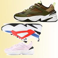2019 رخيصة الأزياء والأحذية الرياضية M2K الرجال النساء رونينغ أحذية العاهل و M2K Tekno مصمم مصمم للجنسين الأسود فولت الخصم