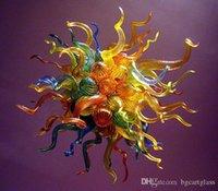 독특한 디자인 무라노 샹들리에 조명 램프 사용자 정의 컬러 컬러 블로운 유리 펜던트 조명 식당 장식용