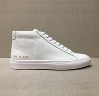 Men designer ankle boots Common Projects Genuine Leather Che...