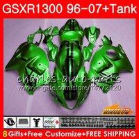 Karosserie für SUZUKI Hayabusa GSXR 1300 GSXR1300 96 97 98 99 00 01 07 24HC.136 GSX R1300 1996 1997 1998 1999 2000 2001 2007 glänzend grüne Verkleidung