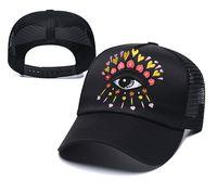 جديد مصمم القبعات رجل إمرأة العين التطريز قبعات الفاخرة الصيف شبكة casquette الأزياء الهيب هوب قبعة قبعة