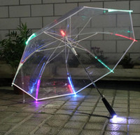 Светодиодный свет прозрачный длинный зонт лазерный меч гольф-гольф зонтики смена цвета светодиодный прозрачный зонтик зонтик