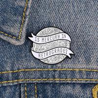 Emaye Broş Retrograd Merkür Evren Güneş Çanta Giyim Yaka Pin Badge Punk Takı Hediye İçin Arkadaşları