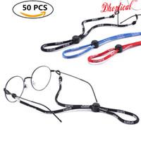 Frete grátis, corrida / natação cordão de basquete, óculos de cadeia, óculos esporte cordão, 3 cores de óculos accessoires atacado 50 pcs