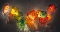 Пользовательские Murano Стеклянные пластины Wall Art Hand выдувное стекло стена декоративный цветок из стекла Тарелки Сделано в Китае