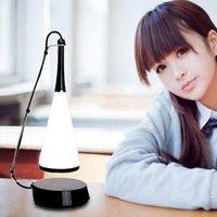 Novedades 2020 إحساس اللمس LED ضوء ليلة بلوتوث اللاسلكية سماعات USB قابلة للشحن الموسيقى الجدول مصباح للتحف حلقة الضوء RW236