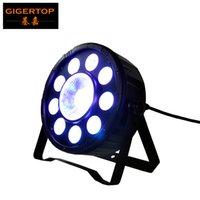 TIPTOP Bühnenscheinwerfer 9 + 1 Digit PAR-Licht RGB Kunststoff SLIM LED Par Cans 3IN1 Farbe 9 * 3W + 1 * 30W DMX 6CH Dual-Bracket Arm Light Weight