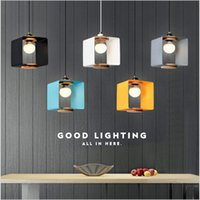 Blue Black White Yellow 220V Macaron Nordic Pendant Lampshad...