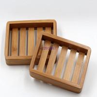 Прибытие Портативные Мыльницы Творческий простой бамбук ручной сливной мыльница Ванная комната в японском стиле мыло