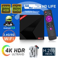 Android 9. 0 TV Box S8 Max+ Plus RK3228 Quad Core 4GB 64GB Du...