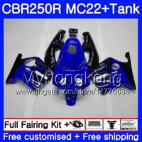 Inyección + Tanque para HONDA CBR 250RR negro azul caliente CBR250 RR 95 96 97 98 99 263HM.39 MC22 CBR 250 CBR250RR 1995 1996 1997 1998 1999 Carenado