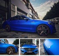 Синяя металлическая матовая виниловая машина для автомобиля с воздушным пузырем свободный хромированный матовый виниловая пленка синий Мэтт кинопленка упаковочная наклейка фольга