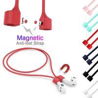 Магнитный ремешок для наушников для AirPods i12 Anti-Lost ремешок Магнит веревка Air Pod Bluetooth наушники Силиконовый кабель для Airpod pro 3 2 1 чехлы