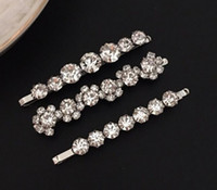 New Fashion RICH Crystal Clip Jewelies for Women Wedding Party Gift Hair Clips with CZ Diamond Nice for Girl 3pc Set