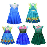 Baby Girls Princess Dress Up Clothes 5 Flying Sleeve Print C...
