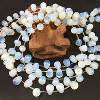 10 ADET Boncuk / Lot 8X10mm Opal Boncuk Yuvarlak Waterdrop Şekilli Taş Gevşek Boncuk DIY Yapma Moda Aksesuarları için