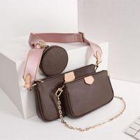2020 lujos de lujo diseñadores bolso de hombro bandolera cruzada bolsa de moda bolso billetera bolsas de teléfono bolsas combinadas de tres piezas de compras gratis
