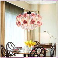 E14 Led lamba 9068 ile mutfak Lüks Otel odaları Gül çiçek Giriş Fuaye aydınlatma İçin Modern Kristal avize lambalar
