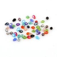 100 teile / los 3x5mm Multi Farbe Teardrop Österreich Kristall Facettierte Glas Lose Spacer Perlen für Schmuckherstellung