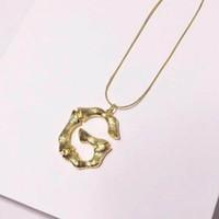 2019 CALIENTE de oro de lujo de la manera barata cuerda fina de oro letther '' G' collares pendientes de alta calidad de las mujeres collares al por mayor con la caja y dastbag