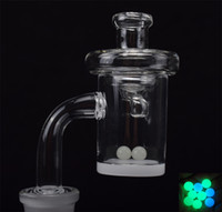 4mm Bottom Quartz Banger Nails with Glass Carb Cap Terp Pear...