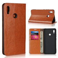 Genuine Leather Cover Flip Case For Huawei Honor Note 10 Car...