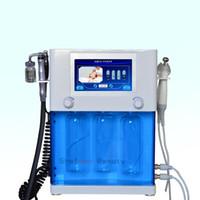 4 en 1 Cuidado de la piel BIO RF Radio Frecuencia de Aqua facial Estiramiento facial de oxígeno HydraFacial al equipo pulverizador facial de la belleza de la máquina Peeling