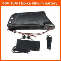 Batterie de bouteille d'eau 48V Scooter Nouvelle batterie de vélo électrique 48V 500W Batterie 48V 10AH Lithium ebike avec chargeur BMS 54.6V 2A