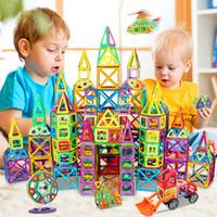 KACUU كبيرة الحجم المغناطيسي مصمم البناء مجموعة نموذج بناء لعبة المغناطيس المغناطيسي كتل ألعاب تعليمية للأطفال