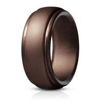 سيليكون خاتم الزواج بريميوم سيليكون خاتم MenRubber BandsFlexible الجلد آمنة مريحة 8 ألوان الشحن المجاني